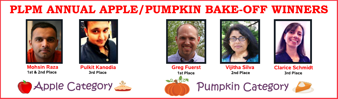 PLPM Annual Apple/Pumpkin Bake-off winners